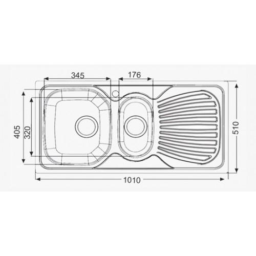 ARTENOVA 510X1010 ANKASTRE EVYE 0,60 MM