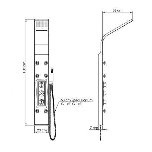 DSP07 Duş Paneli